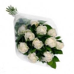 A Dozen Pure White Roses