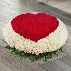 Red & White Roses Arrangement