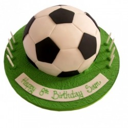 FOOTBALL SHAPE CAKE