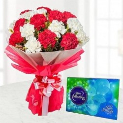 Purely Sweet – Carnations And Chocolates