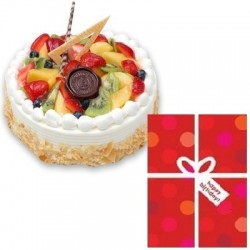 FRESH FRUIT CAKE DELIGHT & CARD