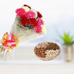Carnation and Dry Fruits