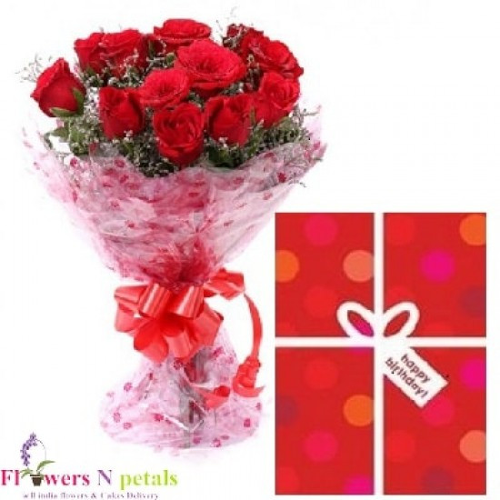 RED ROSES AND OCCASIONAL CARD