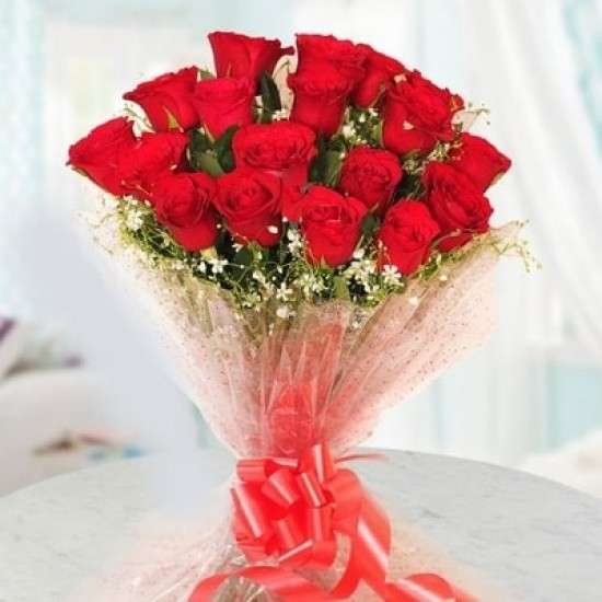 24 Red Rose Bunch.!