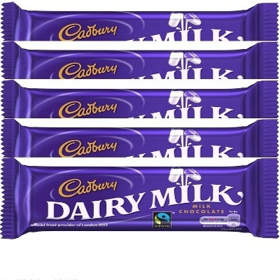 Dairy Milk 19 Gms ( QTY 5) ( WILL DELIVER WITH FLOWER OR CAKE ONLY )